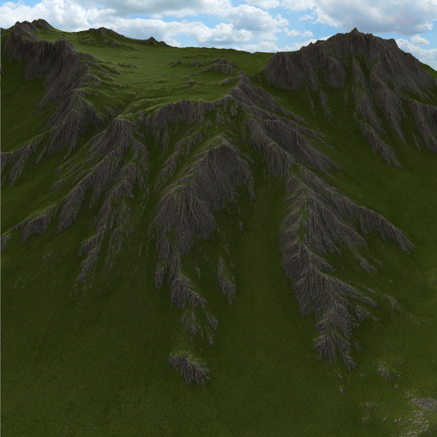 Berglandschaft royalty-free 3d model - Preview no. 7