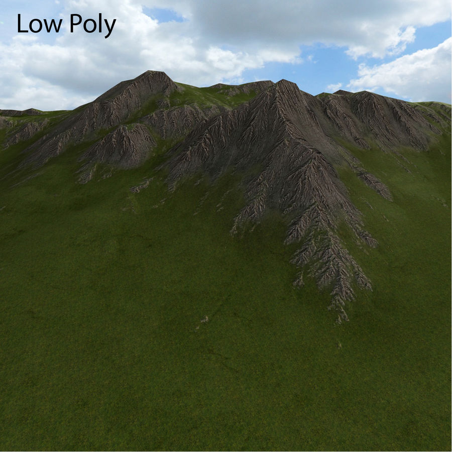 Berglandschaft royalty-free 3d model - Preview no. 35