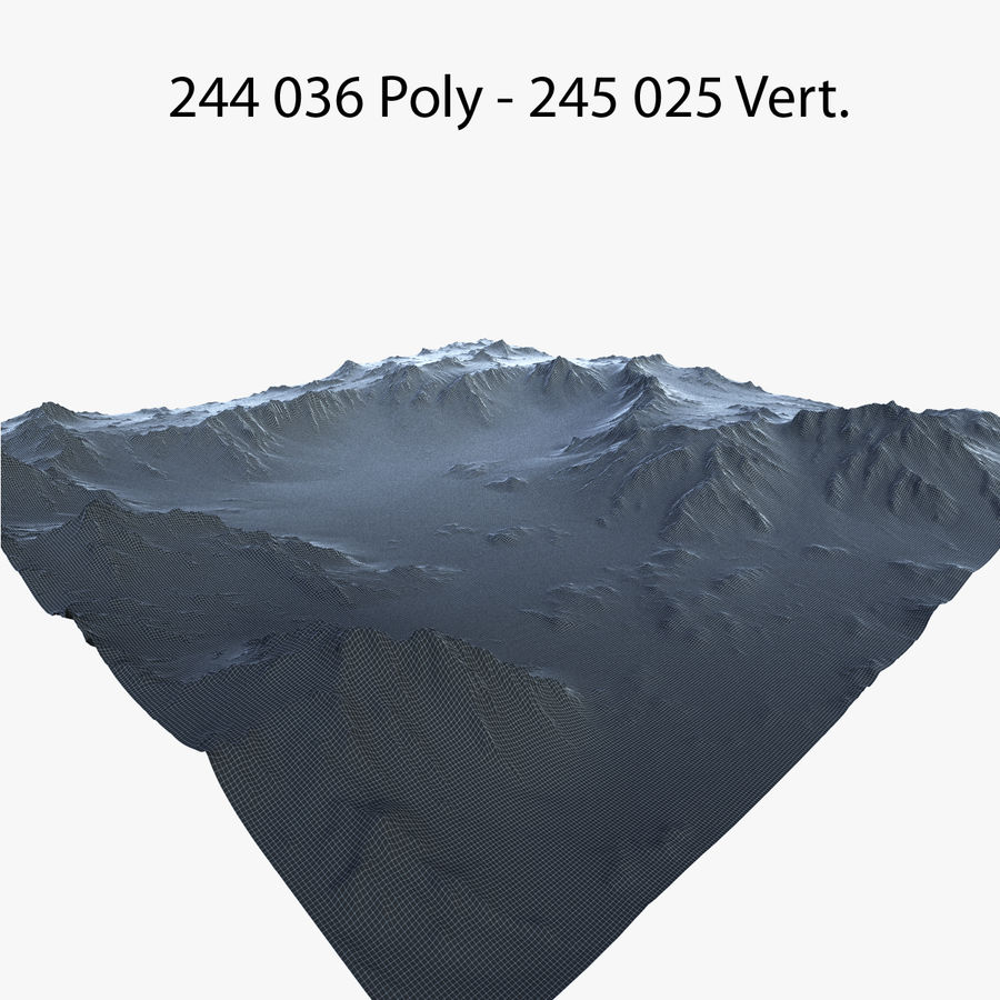 Mountain Landscape royalty-free 3d model - Preview no. 41