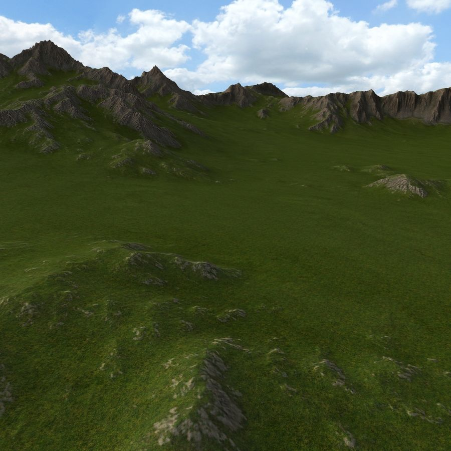 Berglandschaft royalty-free 3d model - Preview no. 12