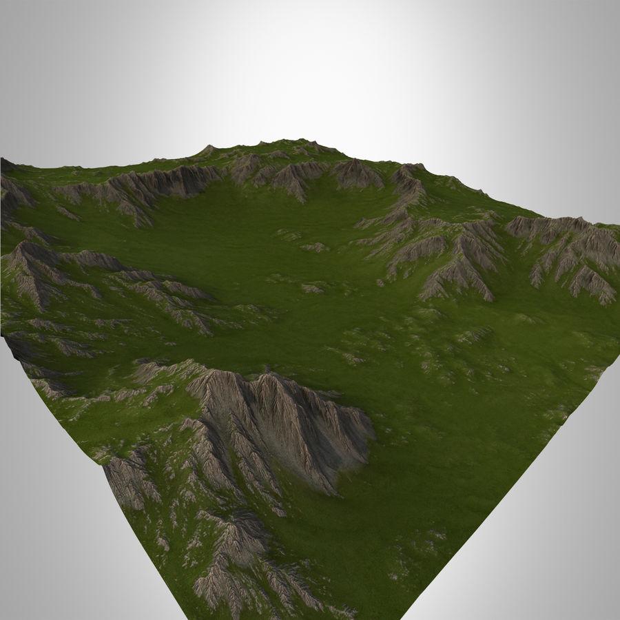 Berglandschaft royalty-free 3d model - Preview no. 3