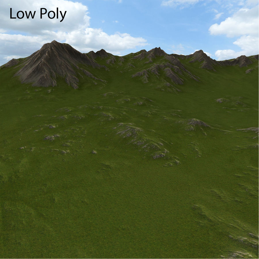 Mountain Landscape royalty-free 3d model - Preview no. 31