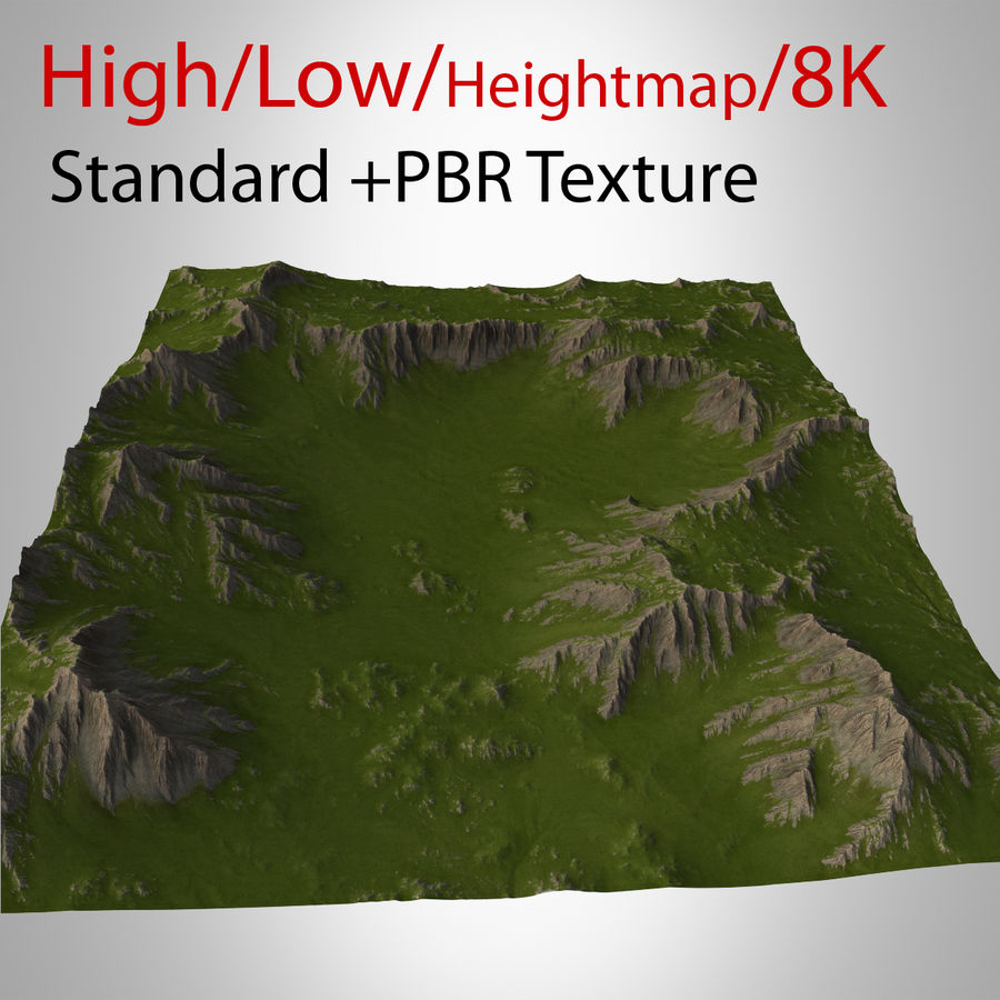 Berglandschaft royalty-free 3d model - Preview no. 1
