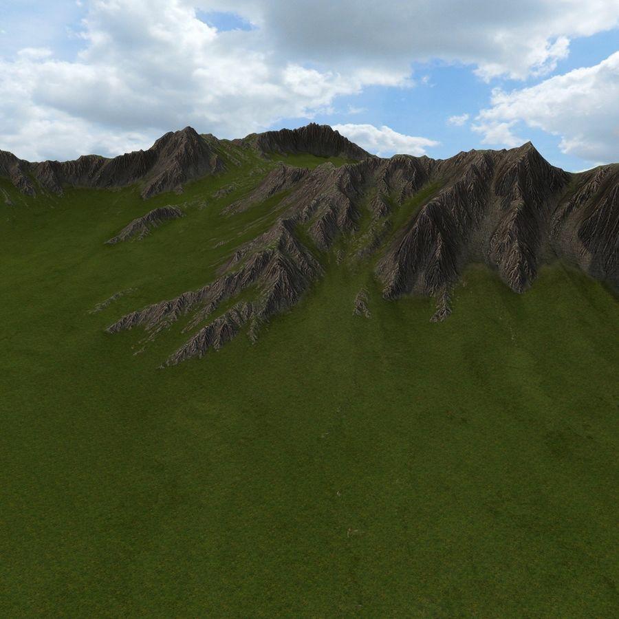 Mountain Landscape royalty-free 3d model - Preview no. 18