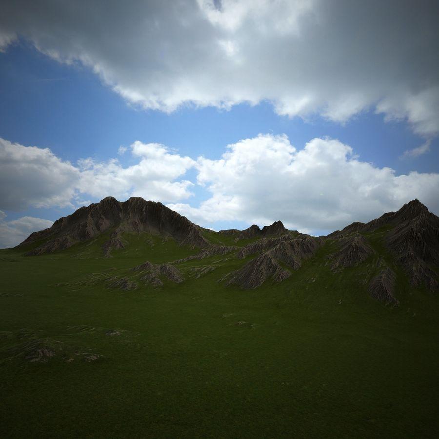 Mountain Landscape royalty-free 3d model - Preview no. 22
