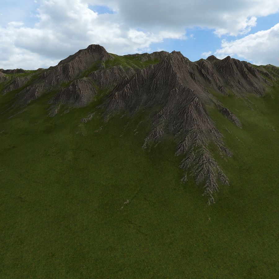 Berglandschaft royalty-free 3d model - Preview no. 19
