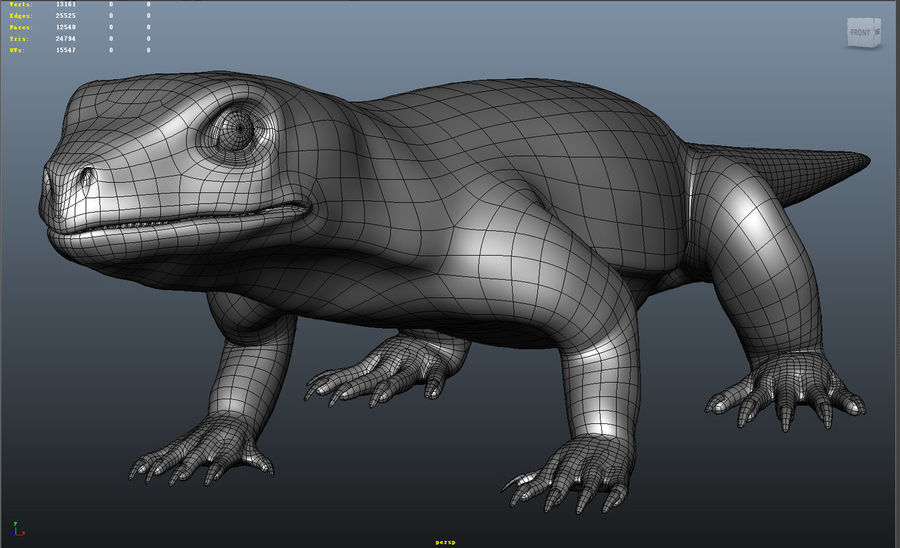 lizard_Rigged royalty-free 3d model - Preview no. 11