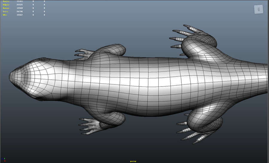 lizard_Rigged royalty-free 3d model - Preview no. 12