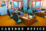 Cartoon-Büro 3d model