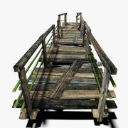 Old Plank Bridge 3d model