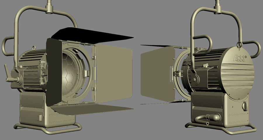 ARRI Compact 2500 Teater royalty-free 3d model - Preview no. 9