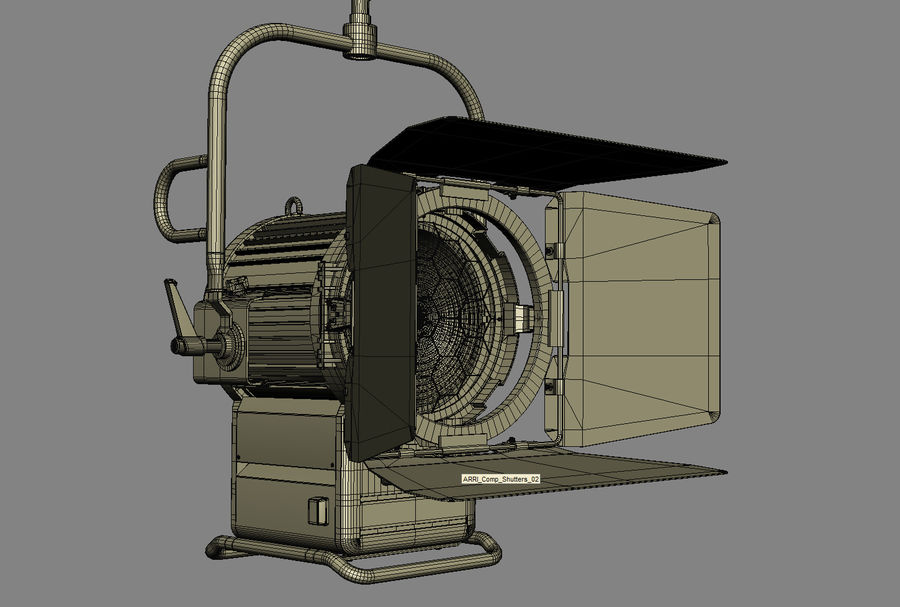 ARRI Compact 2500 Teater royalty-free 3d model - Preview no. 12