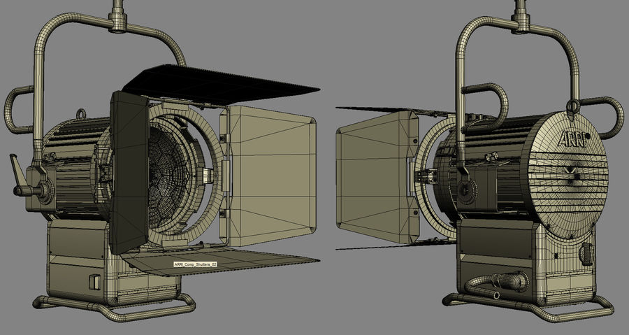 ARRI Compact 2500 Teater royalty-free 3d model - Preview no. 10