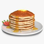 Pancake américain 3d model