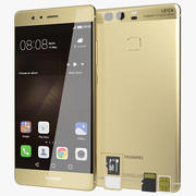 Huawei P9 Prestige Gold with SD/SIM Card Tray 3d model