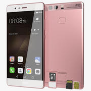 Huawei P9 Rose Gold with SD/SIM Card Tray 3d model