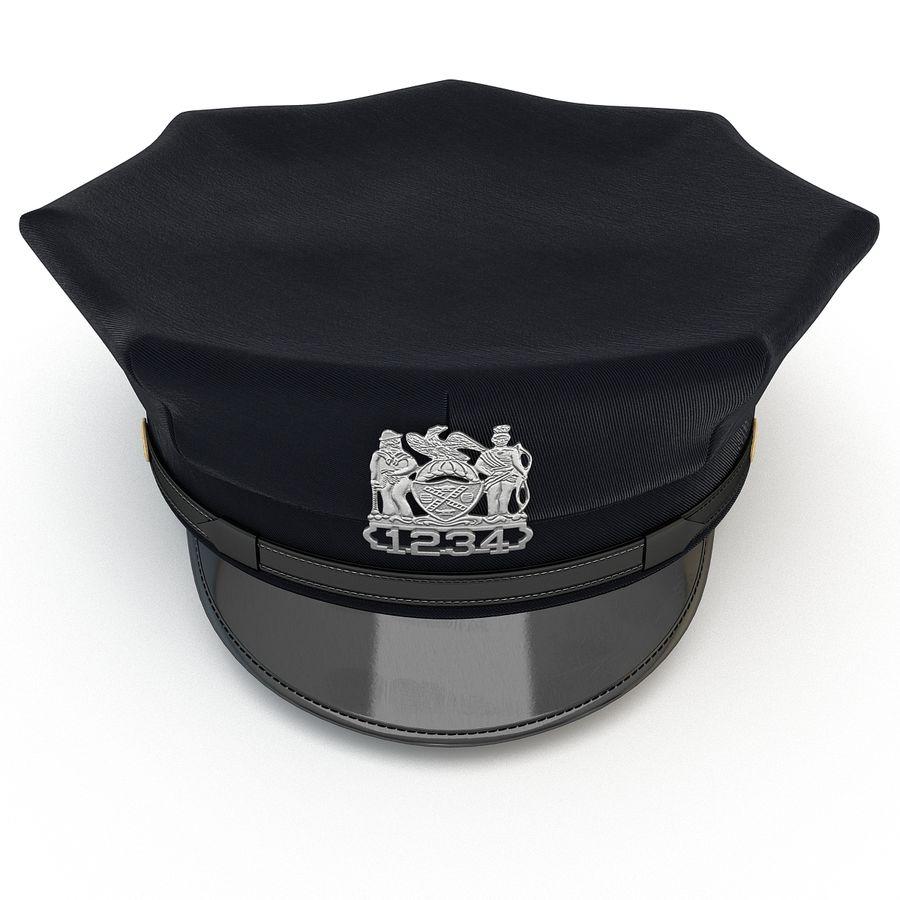 Cappello della polizia di New York royalty-free 3d model - Preview no. 5