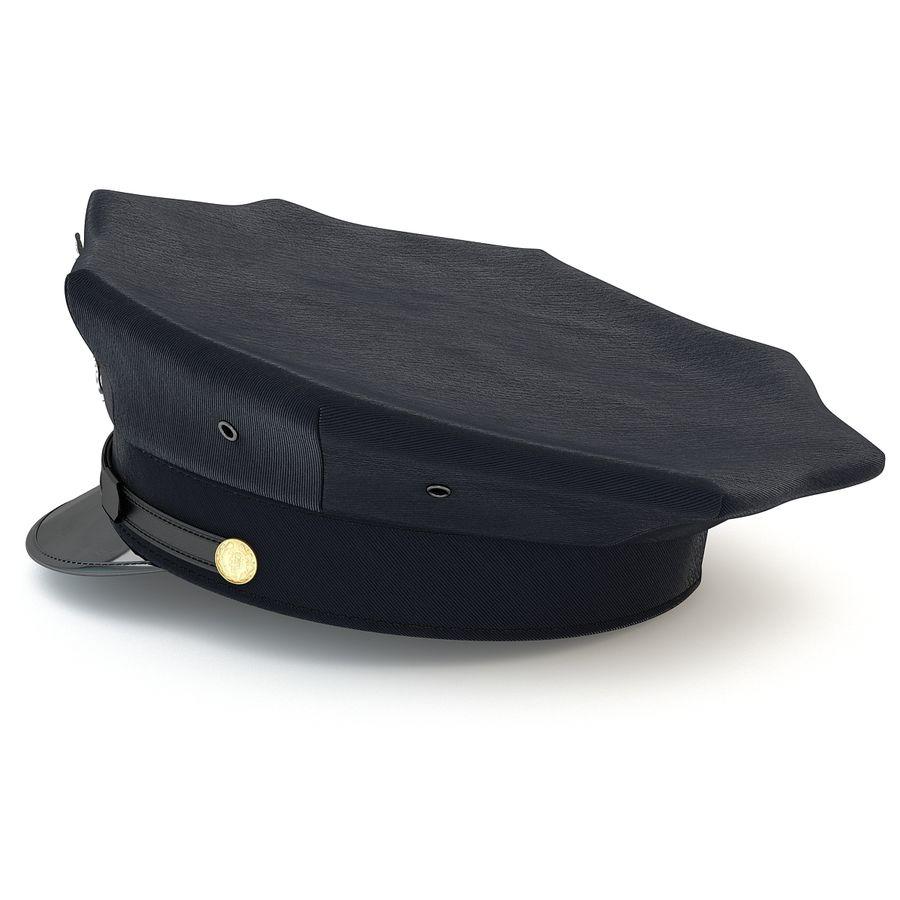 Cappello della polizia di New York royalty-free 3d model - Preview no. 4