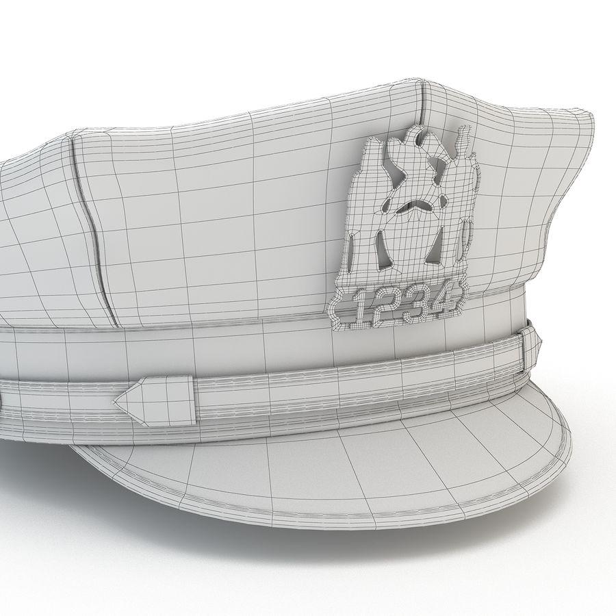 Cappello della polizia di New York royalty-free 3d model - Preview no. 14