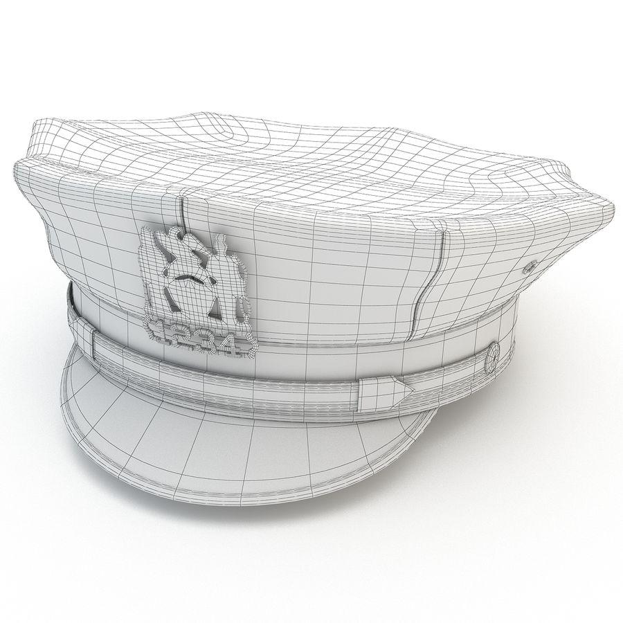 Cappello della polizia di New York royalty-free 3d model - Preview no. 10