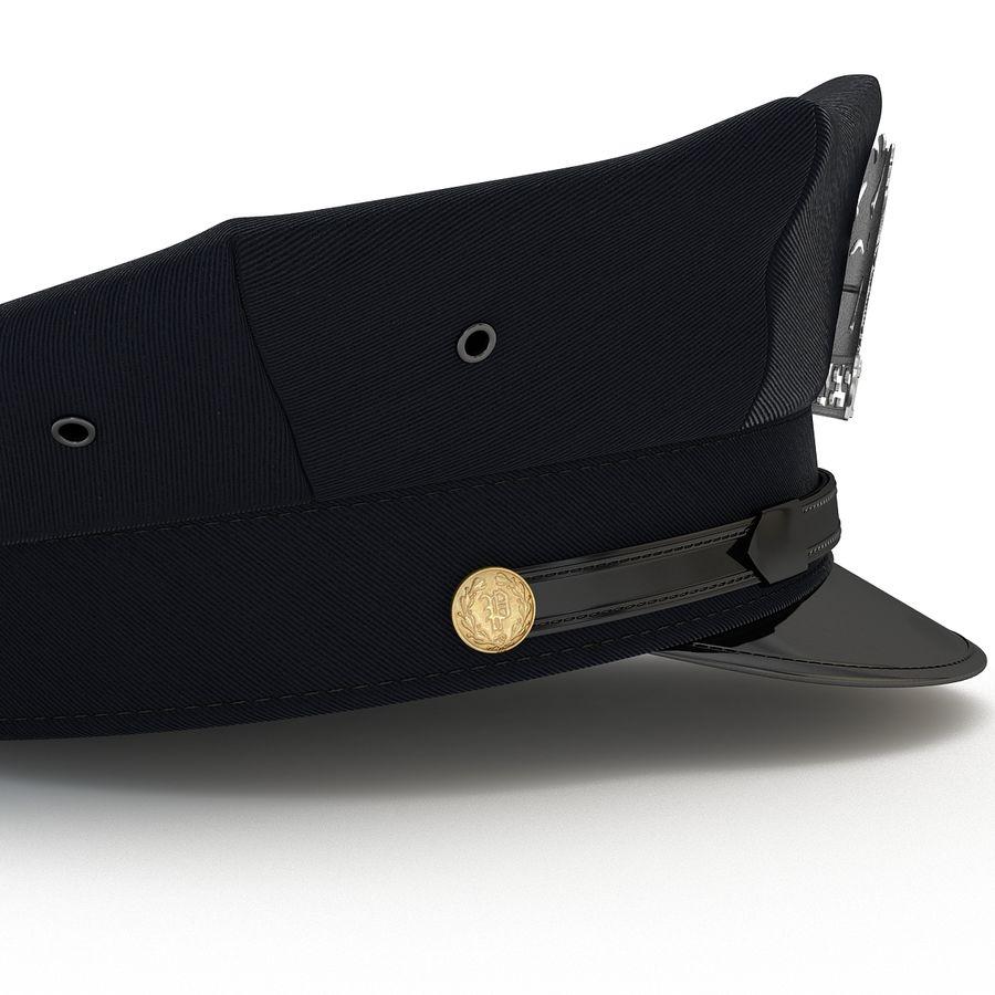 Cappello della polizia di New York royalty-free 3d model - Preview no. 7