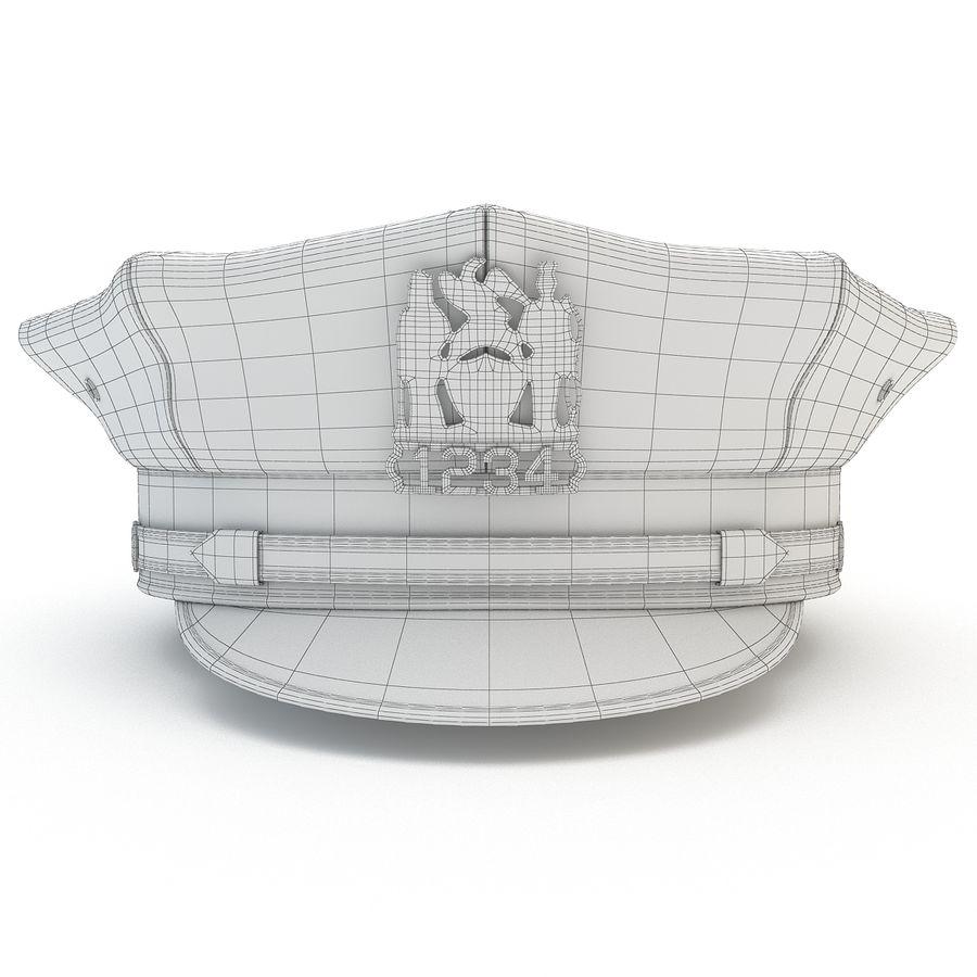 Cappello della polizia di New York royalty-free 3d model - Preview no. 11