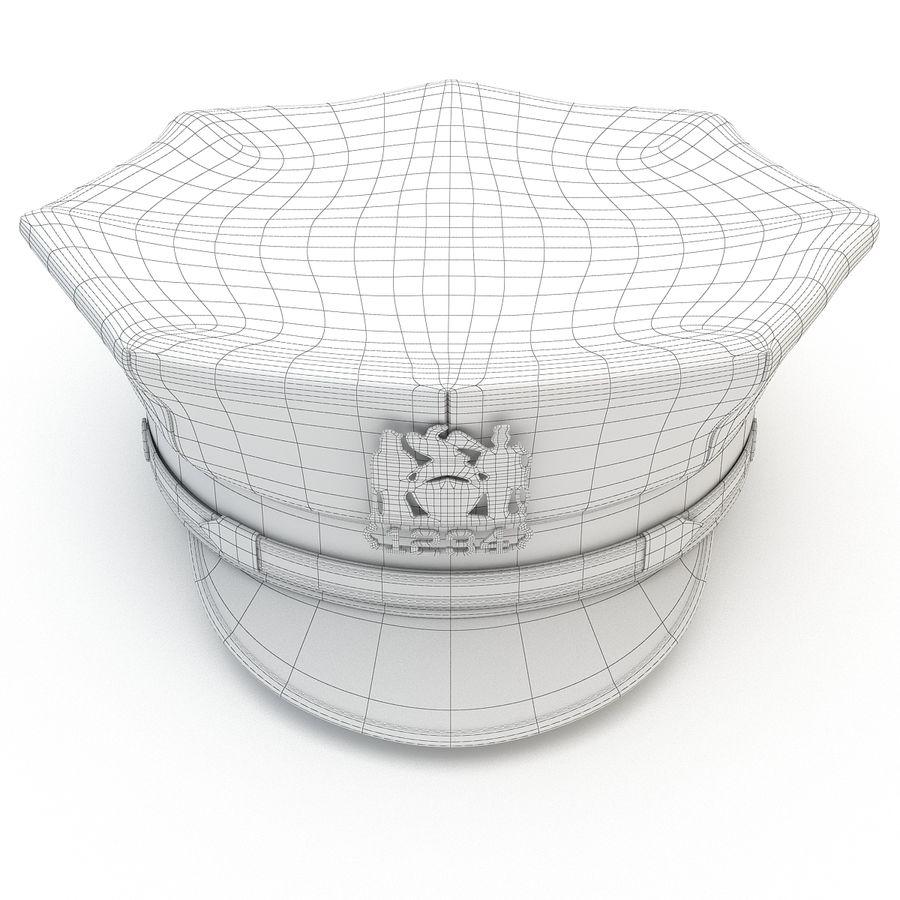 Cappello della polizia di New York royalty-free 3d model - Preview no. 13