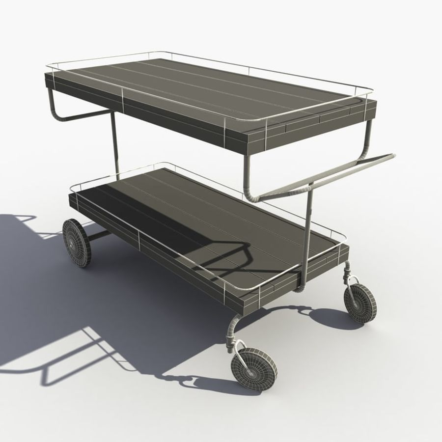 Food Cart royalty-free 3d model - Preview no. 9