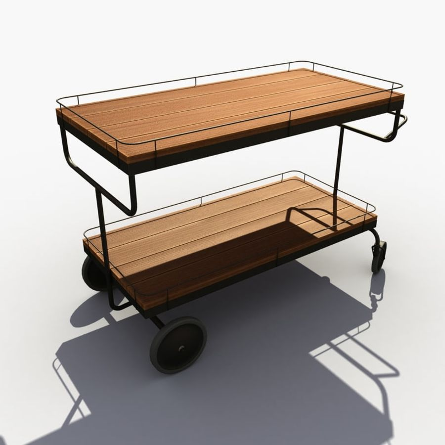 Food Cart royalty-free 3d model - Preview no. 4