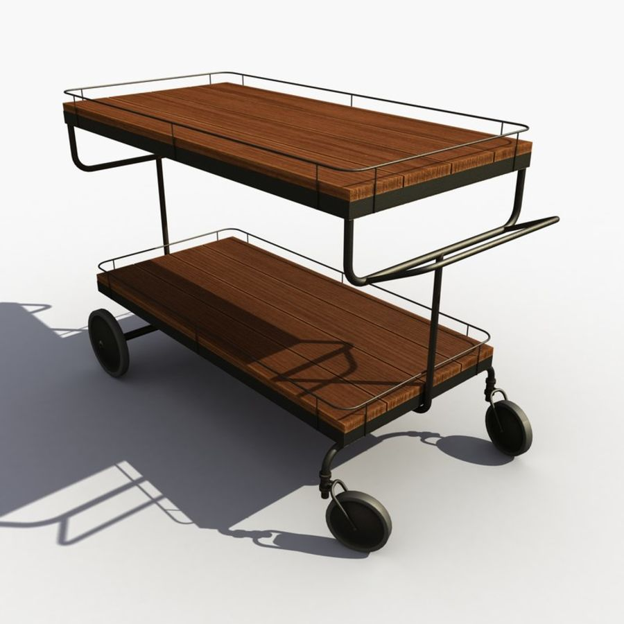 Food Cart royalty-free 3d model - Preview no. 5