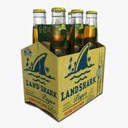 Six Pack of Landshark Beer 3d model