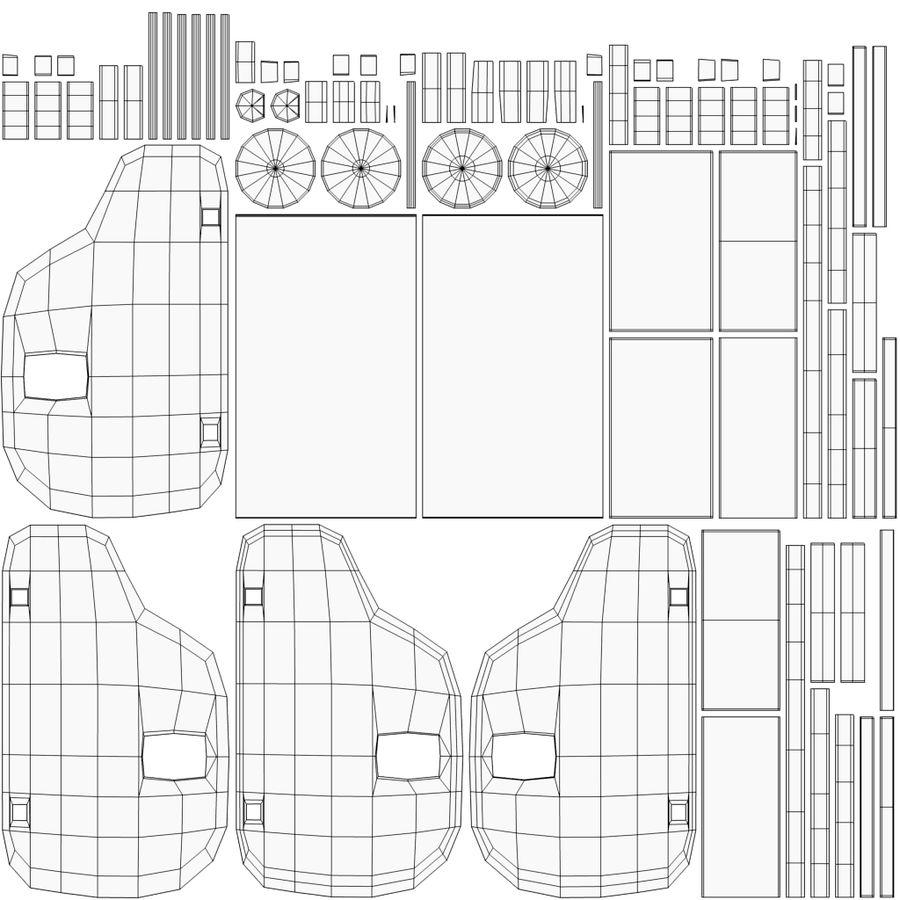 Leksak (polisbil) royalty-free 3d model - Preview no. 33