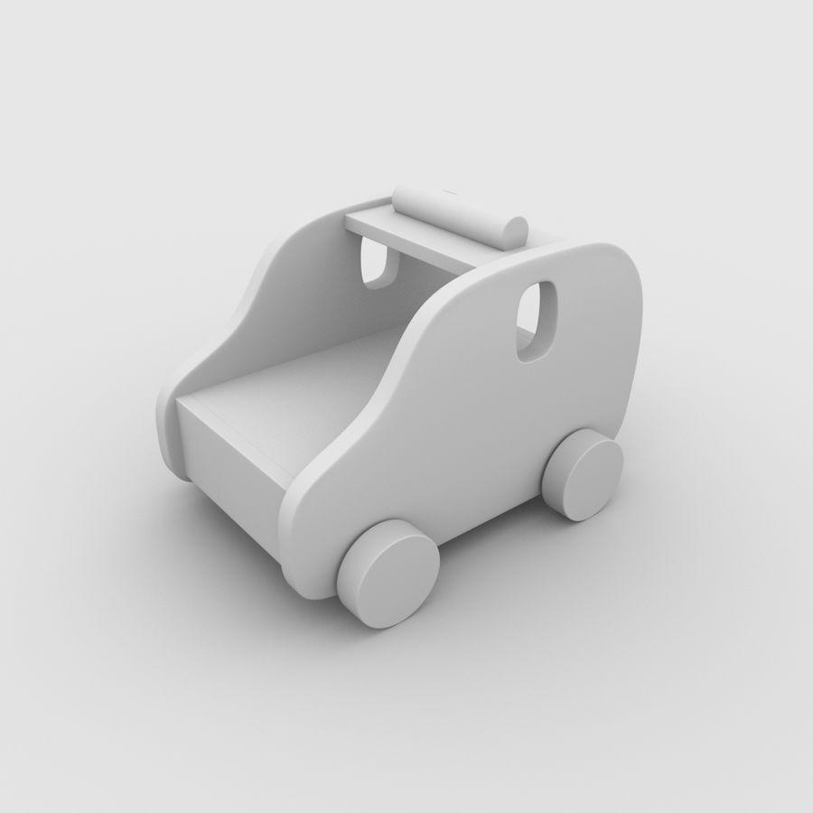 Leksak (polisbil) royalty-free 3d model - Preview no. 20