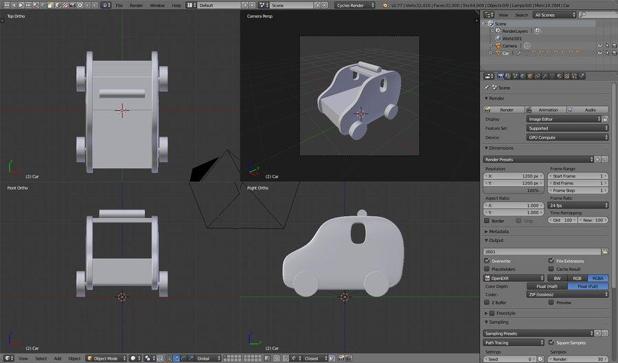 Leksak (polisbil) royalty-free 3d model - Preview no. 25