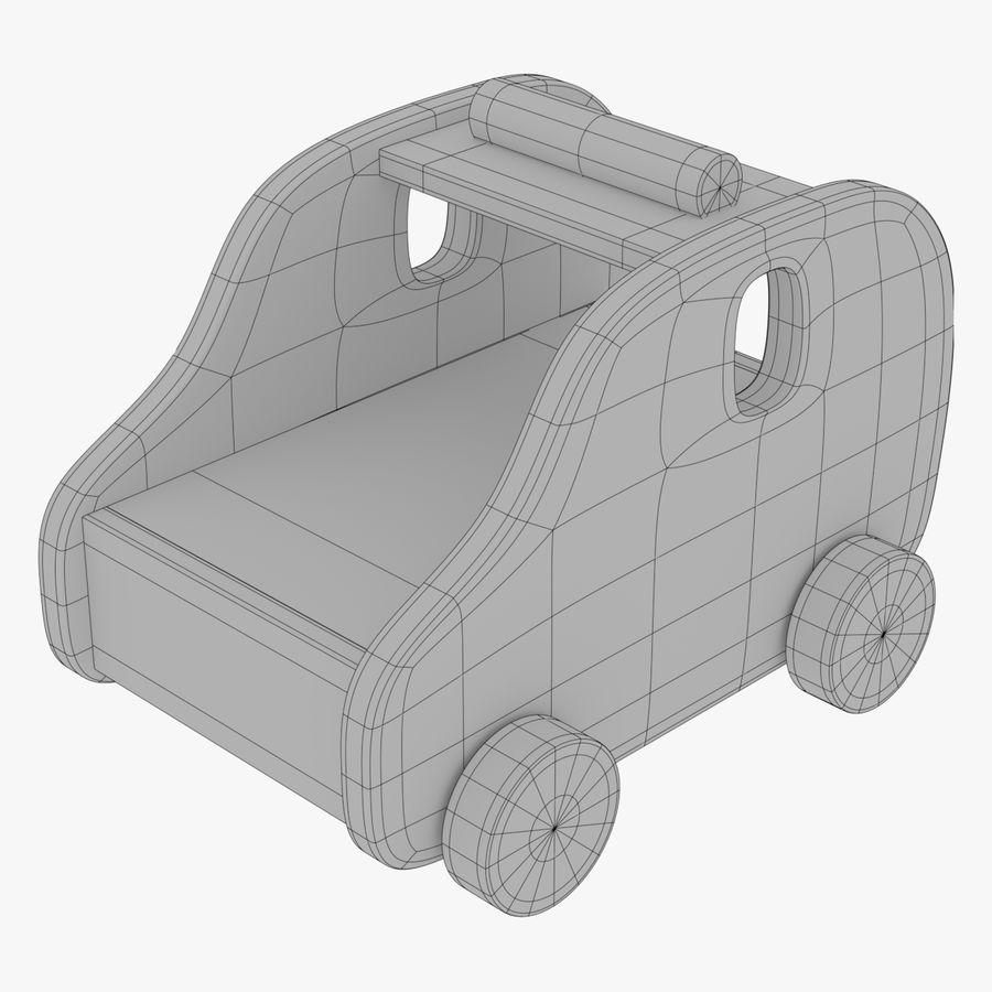 Leksak (polisbil) royalty-free 3d model - Preview no. 3