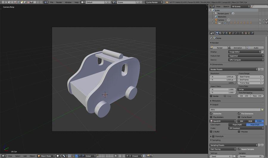 Leksak (polisbil) royalty-free 3d model - Preview no. 23