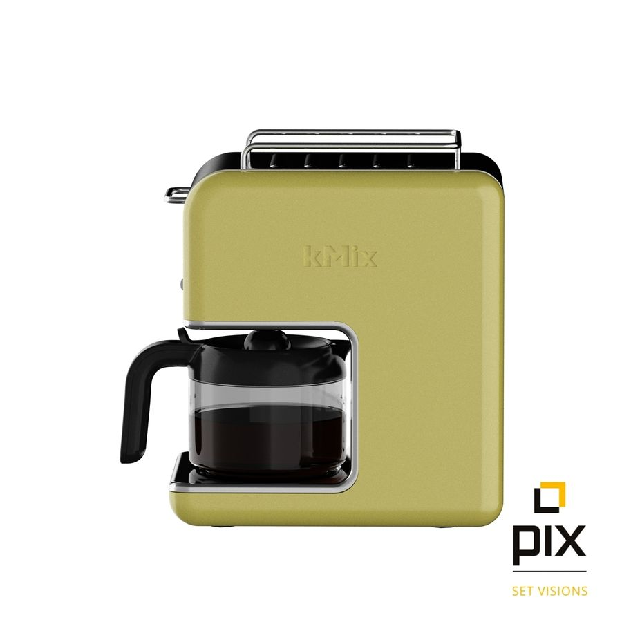 Kenwood K-Mix Coffee Machine royalty-free 3d model - Preview no. 3