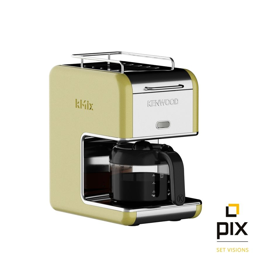 Kenwood K-Mix Coffee Machine royalty-free 3d model - Preview no. 6