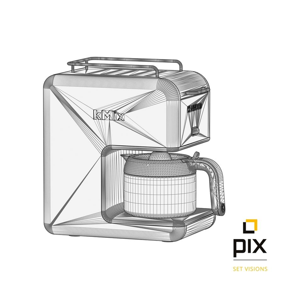 Kenwood K-Mix Coffee Machine royalty-free 3d model - Preview no. 11