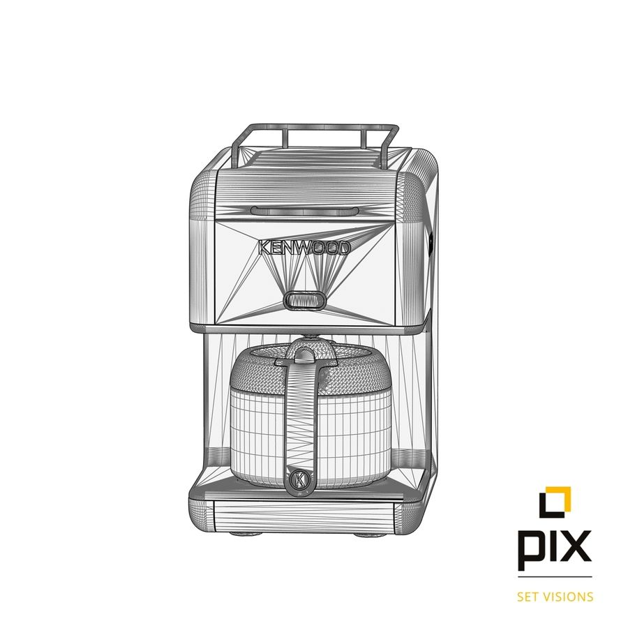 Kenwood K-Mix Coffee Machine royalty-free 3d model - Preview no. 12