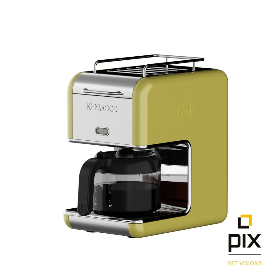Kenwood K-Mix Coffee Machine royalty-free 3d model - Preview no. 2