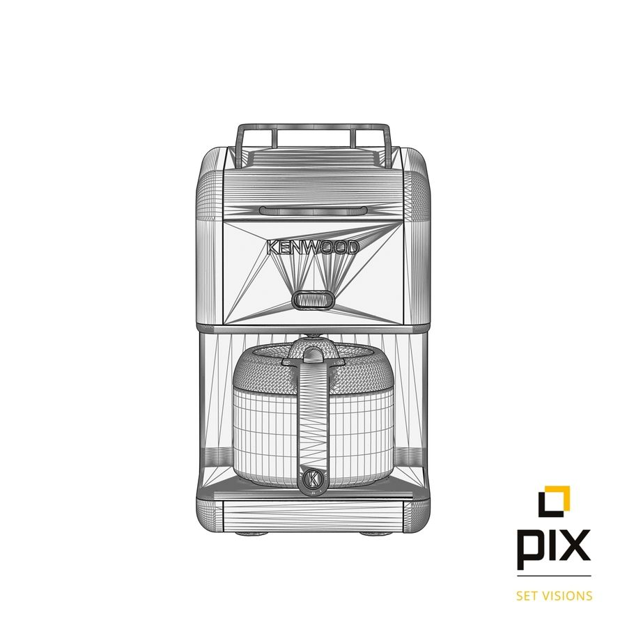 Kenwood K-Mix Coffee Machine royalty-free 3d model - Preview no. 7