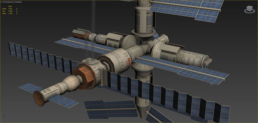 Mir Space Station 3d Model 39 Obj Fbx Max Free3d
