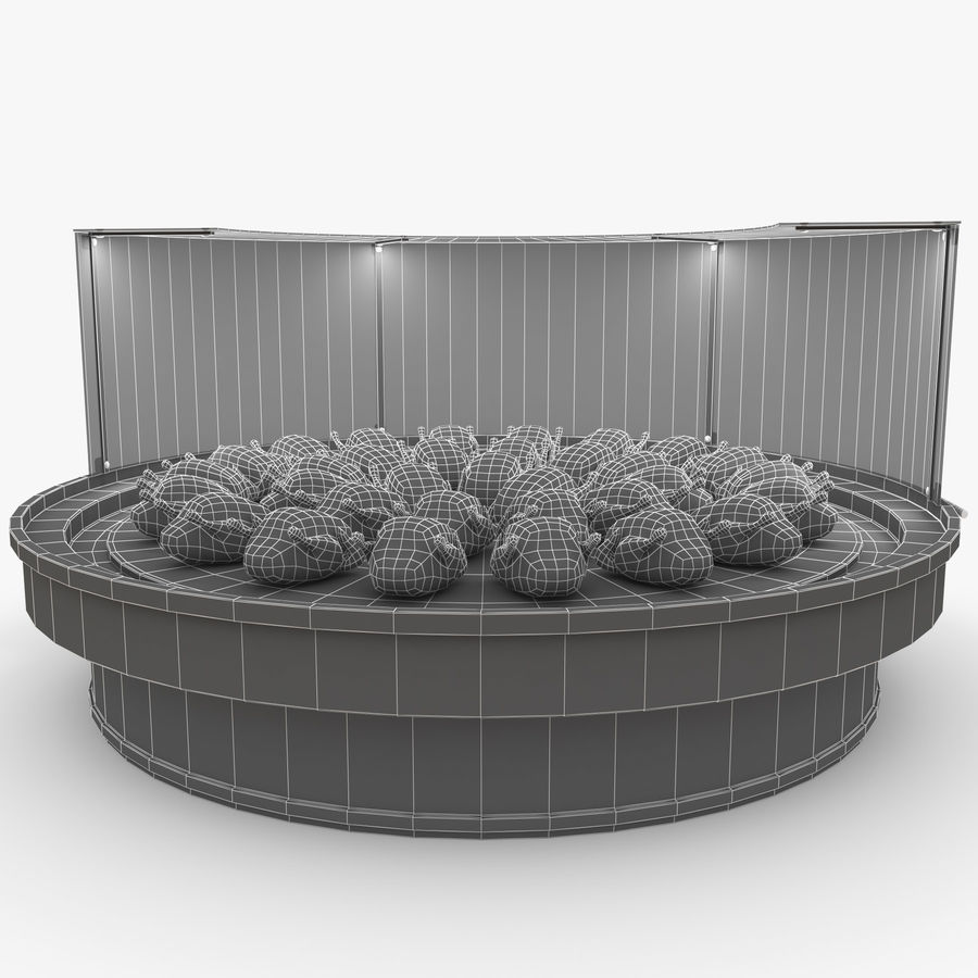 Vitrine royalty-free 3d model - Preview no. 28