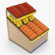 Regale für Obst und Gemüse 3d model