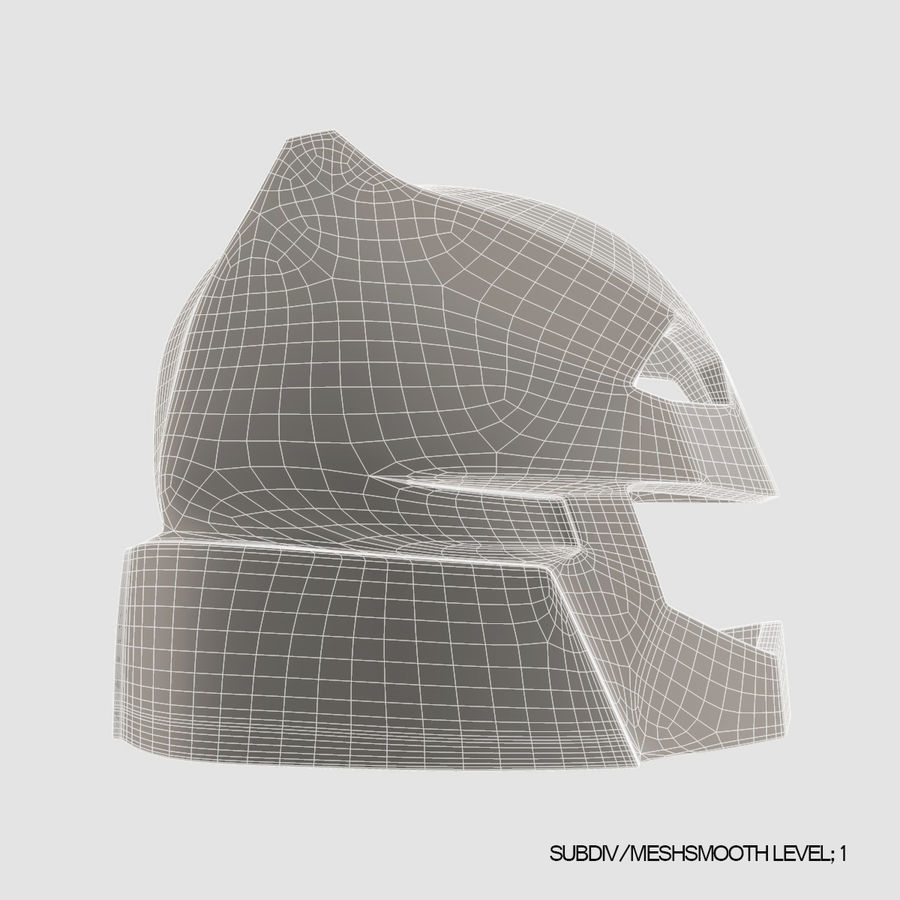 Bat Helmet royalty-free 3d model - Preview no. 14