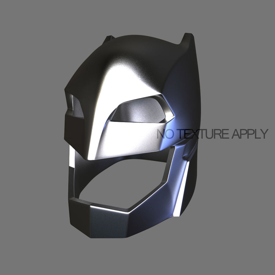 Bat Helmet royalty-free 3d model - Preview no. 9