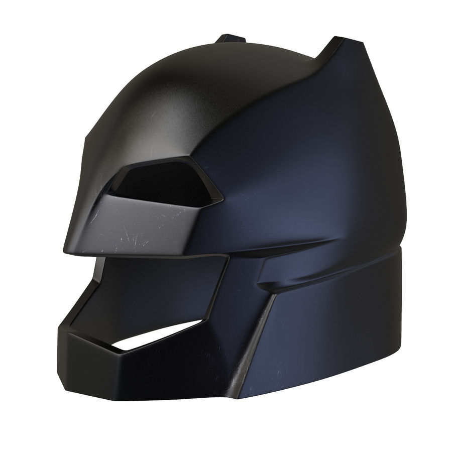 Bat Helmet royalty-free 3d model - Preview no. 5