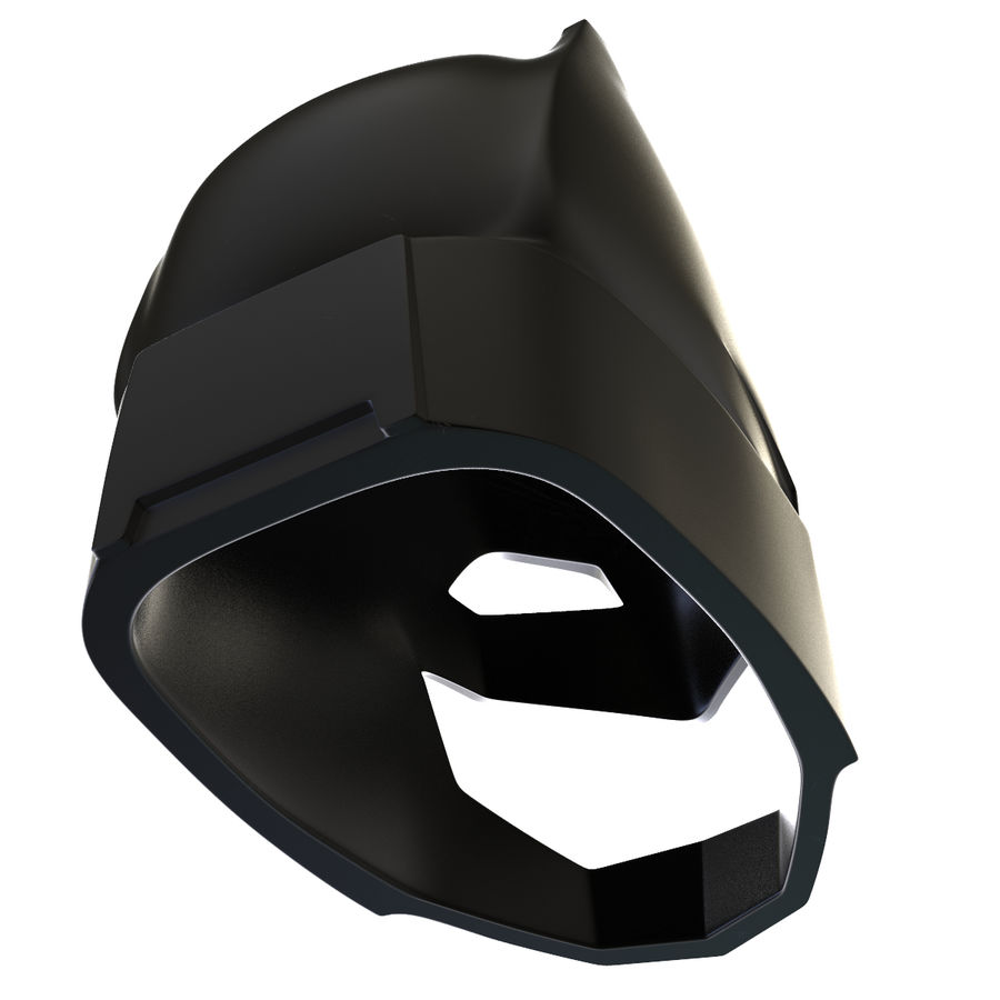 Bat Helmet royalty-free 3d model - Preview no. 7