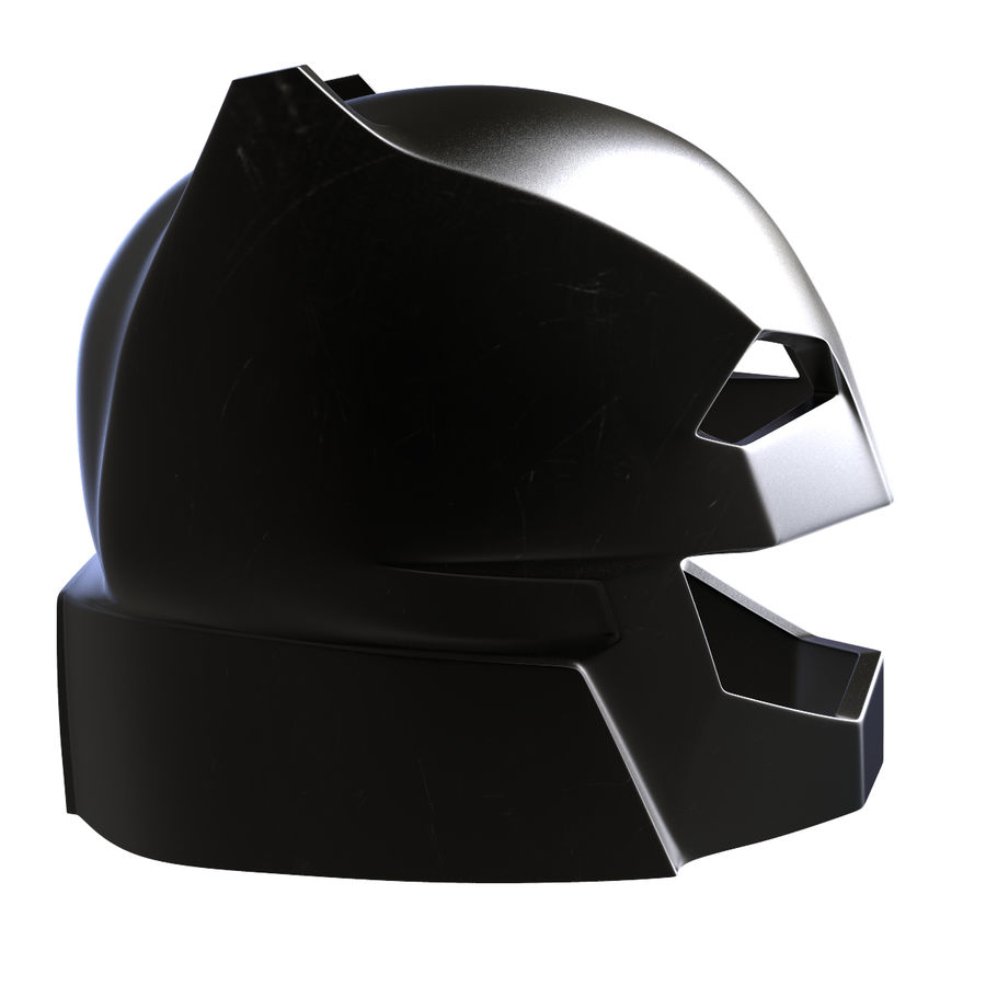 Bat Helmet royalty-free 3d model - Preview no. 3